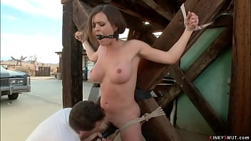 Busty detective anal fisted in bondage