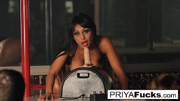Indian MILF  Priya Rai rides the Sybian at the strip club preview image