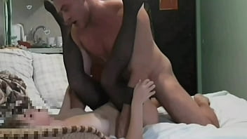 A submissive girl is fucked by a pumped-up guy, the girl sucked a dick, homemade porn, blowjob, Andrey Bulatkin and Milana Wayne