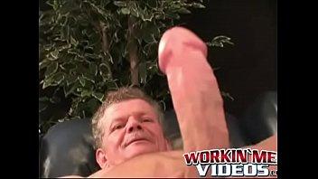 Mature gay s m Muscular mature plumber stroking his stiff fat cock