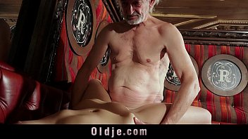 Sweet Young girl seduces naive grandpa for cumshot taste preview image