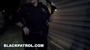 BLACK PATROL - MILF Police Officers With Big Tits Fuck A Rapper 12 min