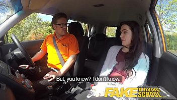 Fake Driving School Sexy horny new learner has a secret surprise 13 min