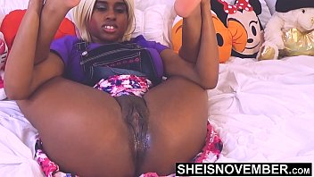 Look At My Pussy Step Bro, I'm Your Little Slut until Mom Gets Home, Curvaceous Ebony Babe Msnovember Legs Back on Sheisnovember
