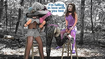 Sexy Sissy romancing two blow up dolls part 1 cartoon slideshow