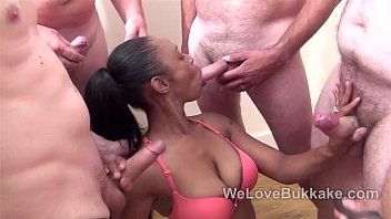 White cocks shooting cum on a black face 6 min