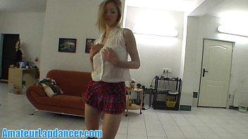Czech blonde with amazing body lapdances video