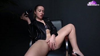 Hot Girl Flogs Ass and Masturbate Vibrator - Soft BDSM