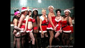 Story swinger uk Xmas party 3 amateur facials uk