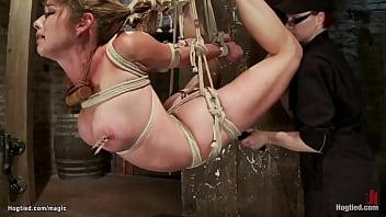 Flexible Felony in challenging hogtie
