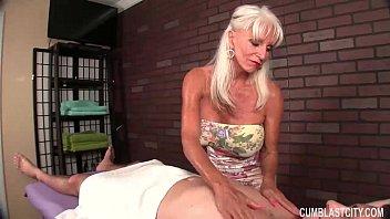 Huge-Titted Granny Handjob 5 min