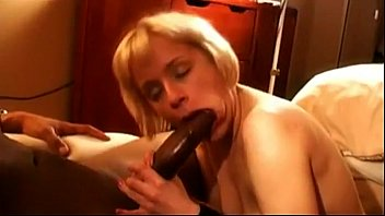 white milf gets fucked and sucks for bbc cum