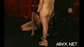 Naked daughter spanking - Extreme bondage with hot mommy and young daughter