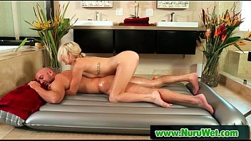 Asian Babe Gives Nuru Massage On Air Matress 14