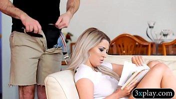 Huge boobs blonde woman gets plowed hard