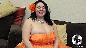 Busty Latina BBW Julia Juggs Interview With A Plumper BTS