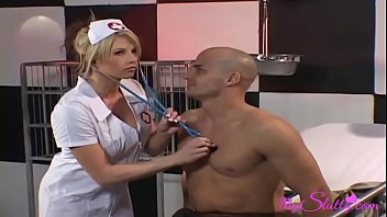 English patient sex - Slutty nurse fucks her patients every time she can