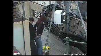 Fuck spy Spy cam catch fucking on roof top