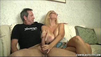 Huge-titted milf enjoys jerking cocks porno izle