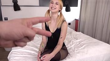 First DP Teen Iris Kiss Kiss - Hot Energetic Anal Fuck - Two Big Cock - Big Anal Gape VK055