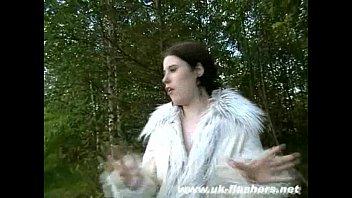 Amateur Bbw Babe Rebecca nackt in der Öffentlichkeit