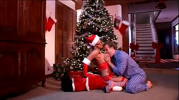 Seth Dickens was good boy during the last year and that's why his devout wish was realized by Trina Michaels in Santa's suit