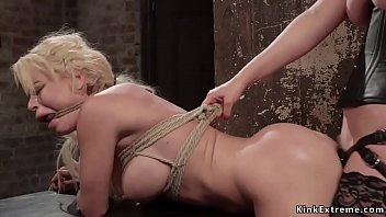 Busty Blonde Anal Banged And Whipped