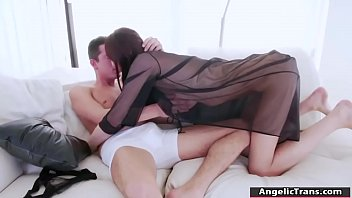 Busty TS redhead gets analed by bfs cock