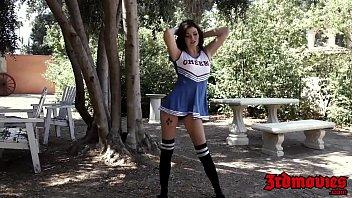 Slutty cheerleader Jessica Rex interracially slammed