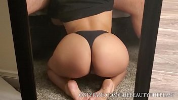 Best Pantie Feet Fetish Blowjob Ft. PAWG With Sexy Toes, Black Thong, Ass