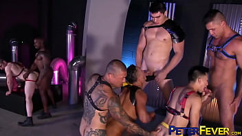 PETERFEVER Interracial Cosplay Orgy Stud With Max Konnor 8分钟