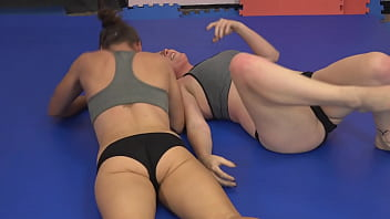 Girls strip wrestling Al... vs sha....