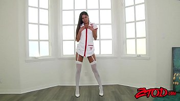 Gorgeous Latina nurse pounded and sprayed with cum 12 min