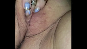 Granny finger her wet pussy