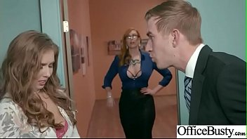 (Lauren Phillips & Lena Paul) Office Girl With Round Big Boobs Enjoy Hard Sex movie-17