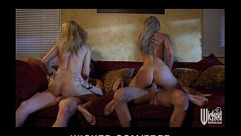 Two exhibitionist swinging couples get a camera & film their orgy
