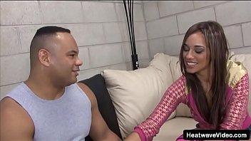 Ebony babe rides a big cock until it fills her pussy with fresh cum