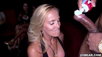 Crazy girls enjoying male stripper party