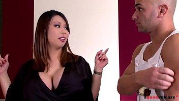 Big tits pornstar Tigerr Benson takes two big fat cocks up her pink and ass 14 min