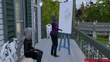 Anime ecchi Cap 4 Bulma le dice a jiraiya que venga aver como hace dibujos y se la termina follando bulma le pide que le eche toda su leche adentro