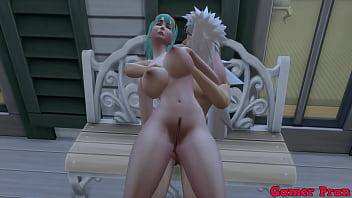 Anime ecchi Cap 4 Bulma tells jiraiya to come see how she makes pictures and ends up fucking her bulma asks him to put all her milk inside
