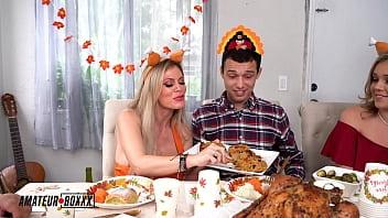 Amateur Boxxx - Kali & Casca's Crazy Cuckhold Threesome Thanksgiving 10 min