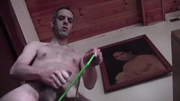 The cellar gay - Huge cum on the mirror in a friends cellar homemade mature amateur solo male with naked and hairy body