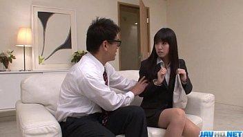 Kotomi Asakura craves for cock in her moist vagina thumbnail