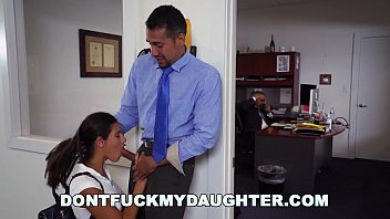Don't Fuck My Daughter - Teen Victoria Valencia Visits Daddy At Work, Takes Dick From His Employee