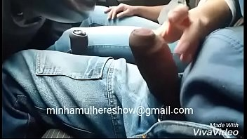 Wife jacking off in public in the car - Couple Pss