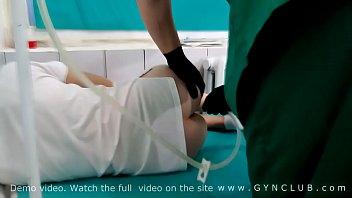 Enema and 2 orgasm on gyno room