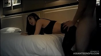 Sexy Asian prostitute in stockings shagged in a hotel