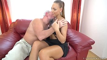 Ornella Morgan and an old guy