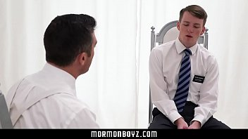 Term used by gay young men Mormonboyz - nervous young boy tied up and fingered by dominant priest